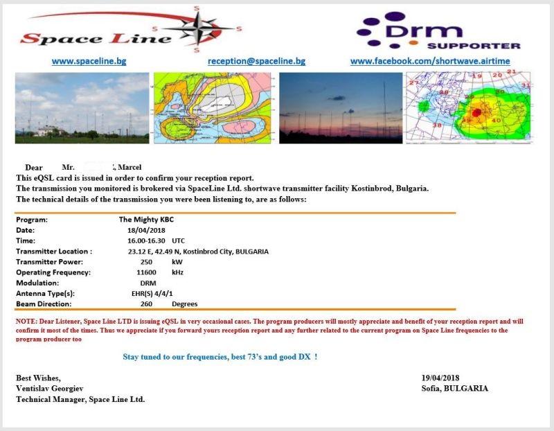 eQSLs de Spaceline et KBC  180419095438649710