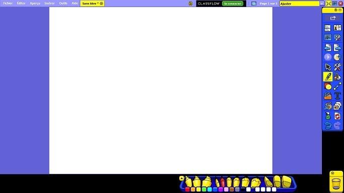 L'interface primaire du logiciel ActivInspire
