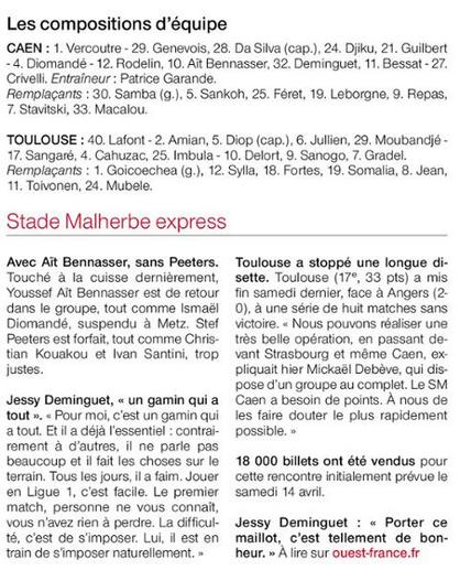 [33e journée de L1] SM Caen 0-0 Toulouse FC - Page 2 180425081723644000