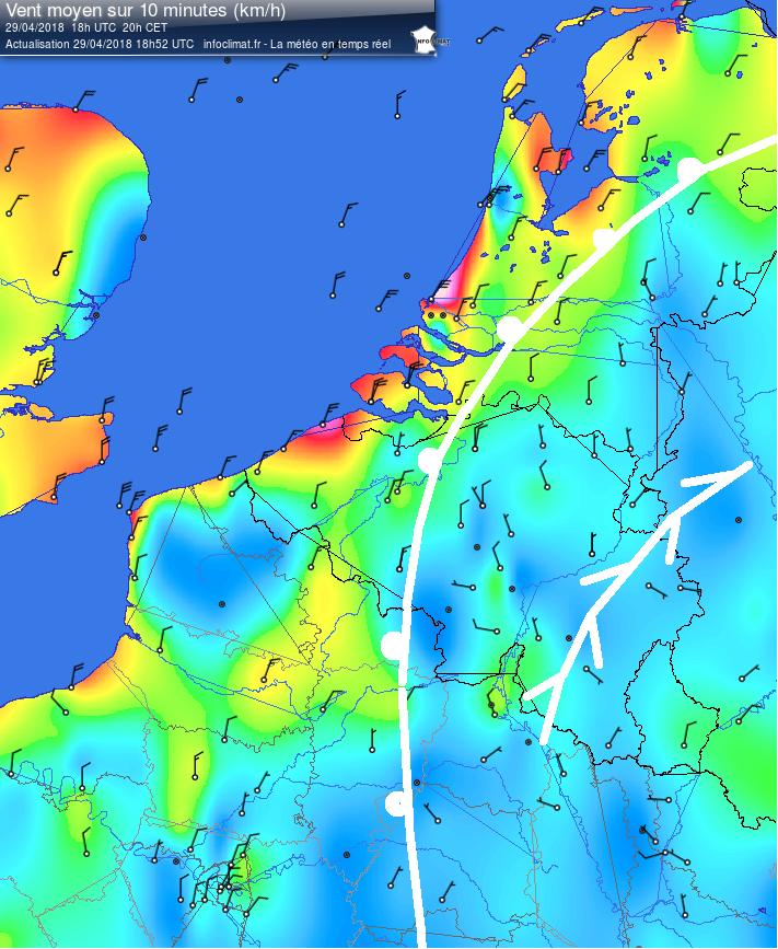Analyse - Infoclimat carte vents 2018-04-29 - 18h