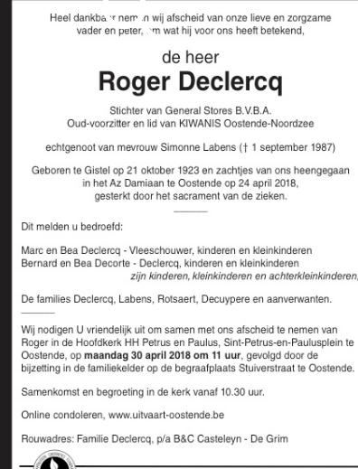 Déces - Overlijden (2) - Page 46 180507125122954773
