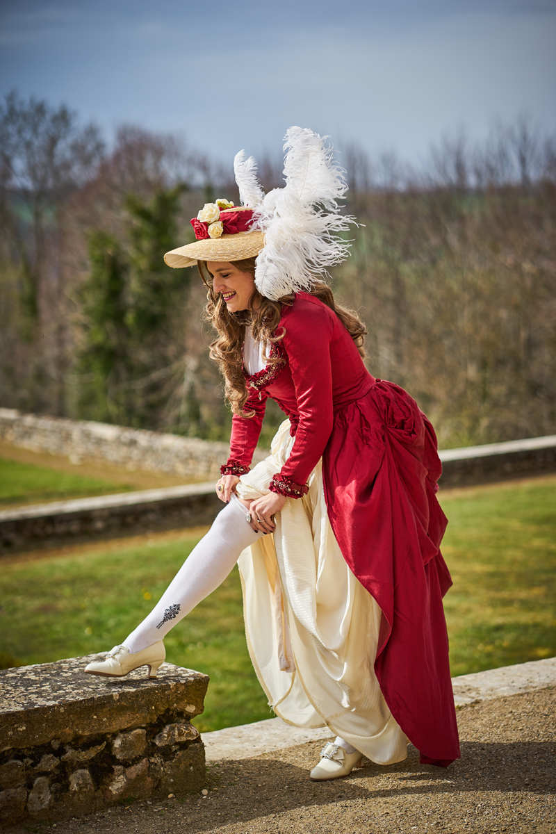[Histo] Robe à l'anglaise rouge 180508101628104911