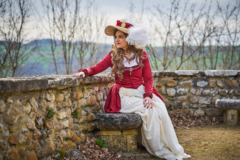 [Histo] Robe à l'anglaise rouge 180508101629987777