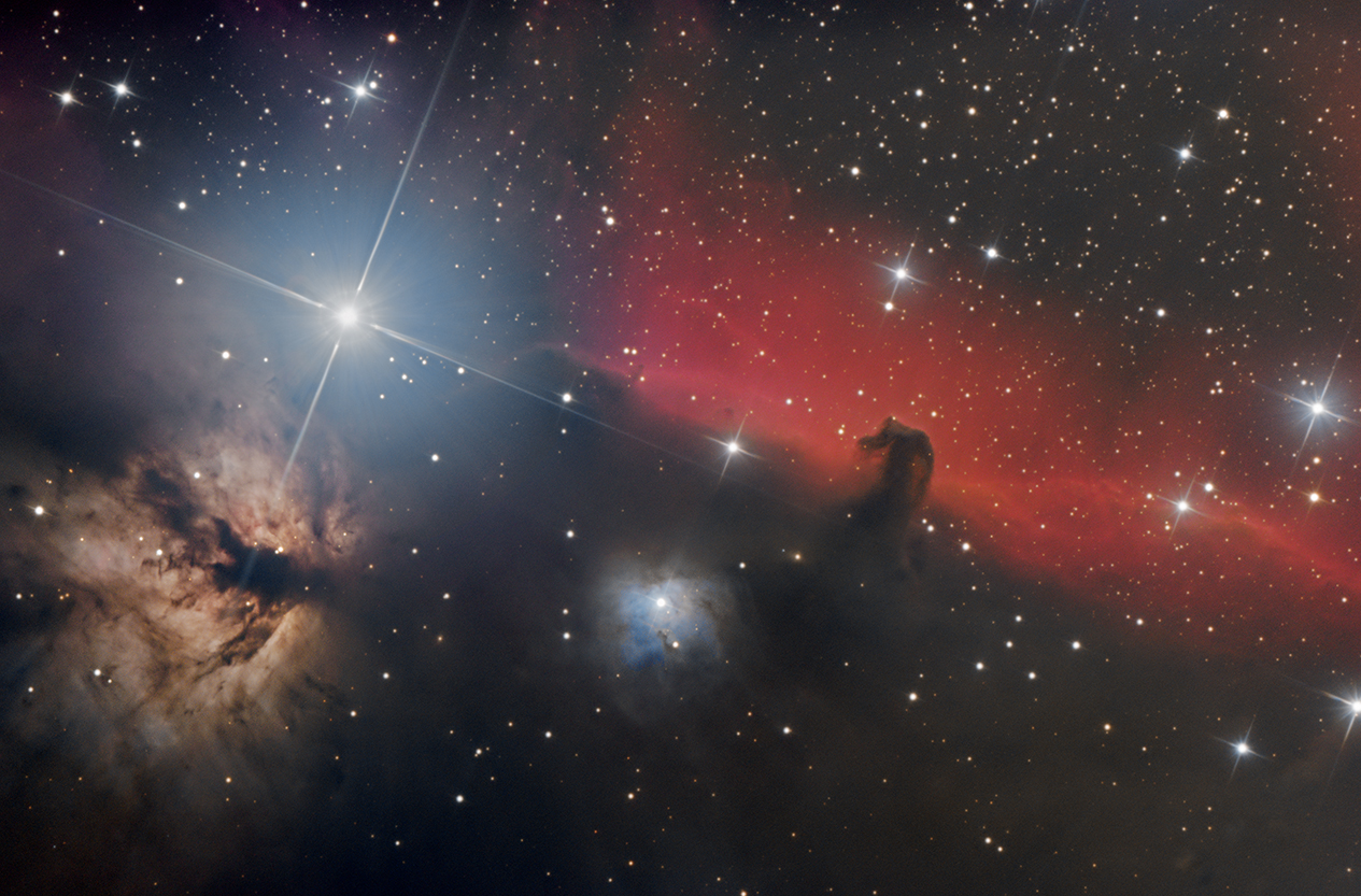 IC434 La nébuleuse de la tête de cheval & la flamme 25