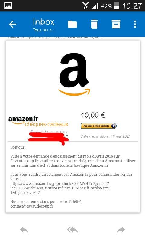Comment gagner 10 euros Amazon gratuitement grâce au Multis Comptes. 180515090512105079