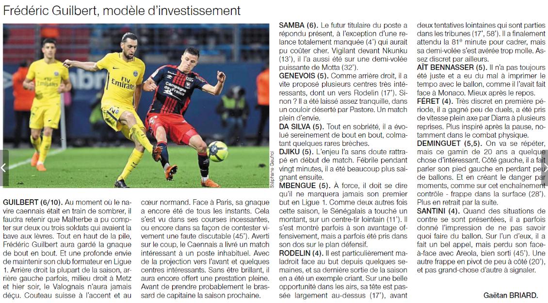 [38e journée de L1] SM Caen 0-0 Paris SG - Page 2 180520095325323795