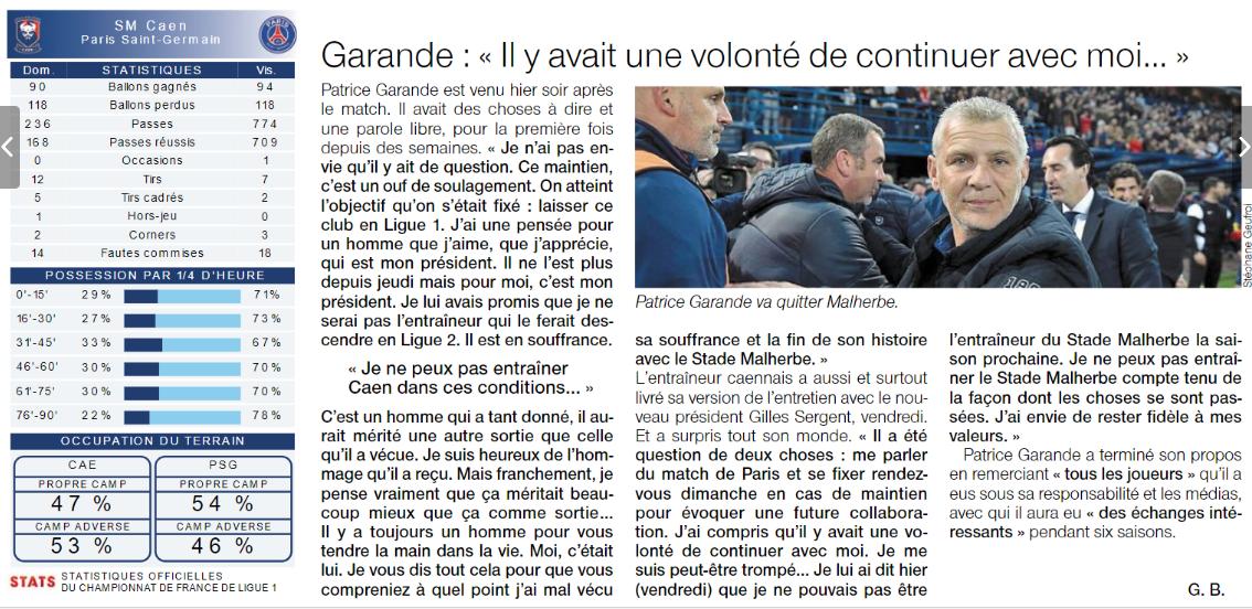 [38e journée de L1] SM Caen 0-0 Paris SG - Page 2 180520095332739011