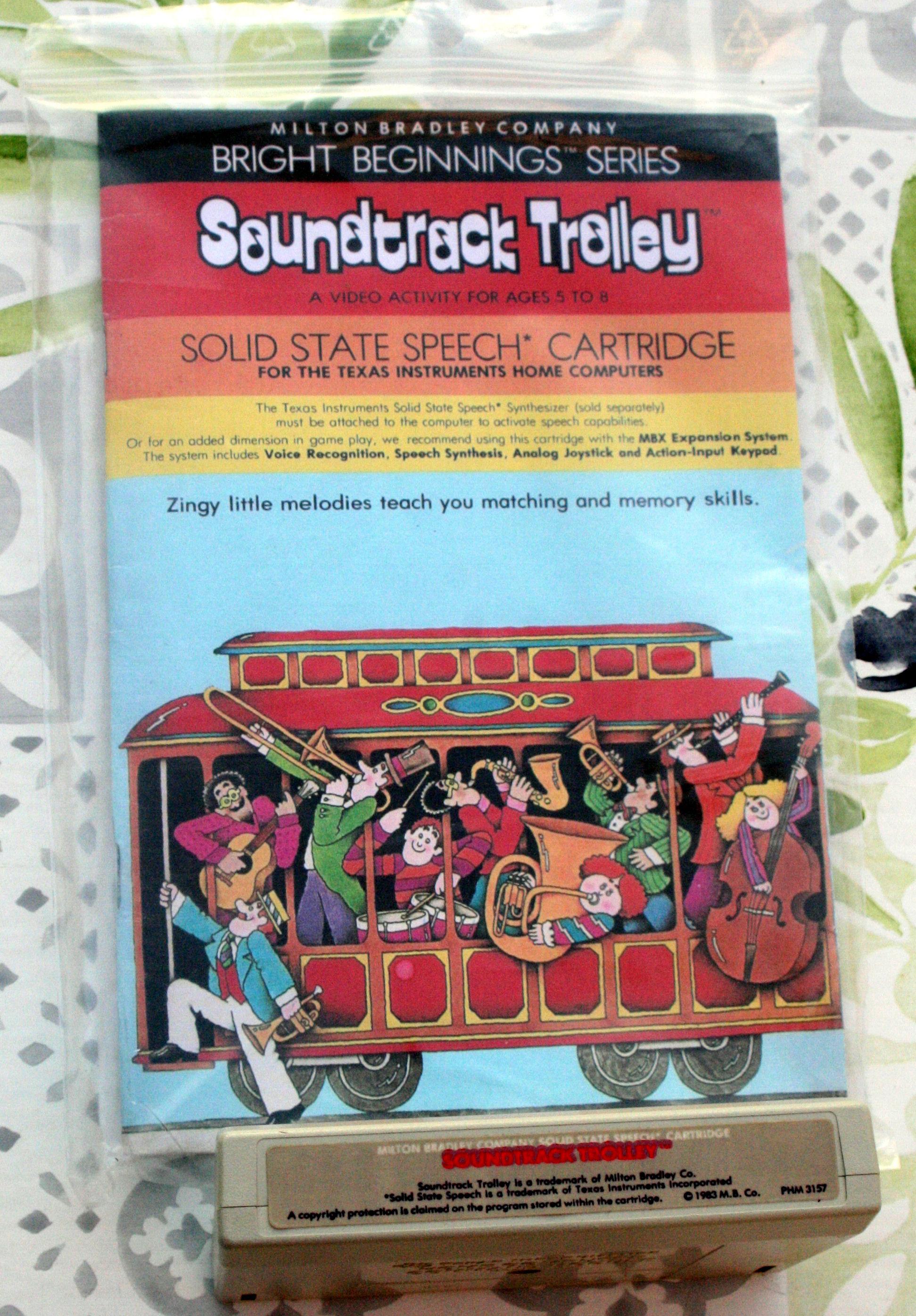 Soundtrack Trolley Milton Bradley PHM3157R4