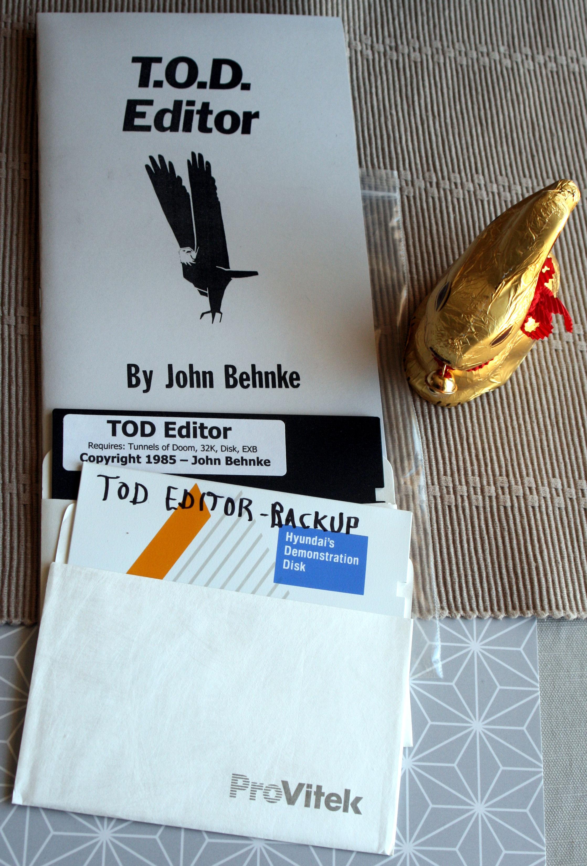 TOD Editor disk + manual