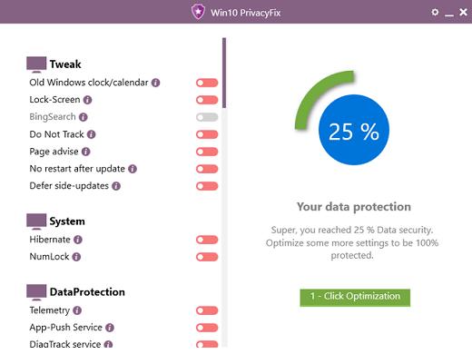 Resultado de imagen para Win10 PrivacyFix 2