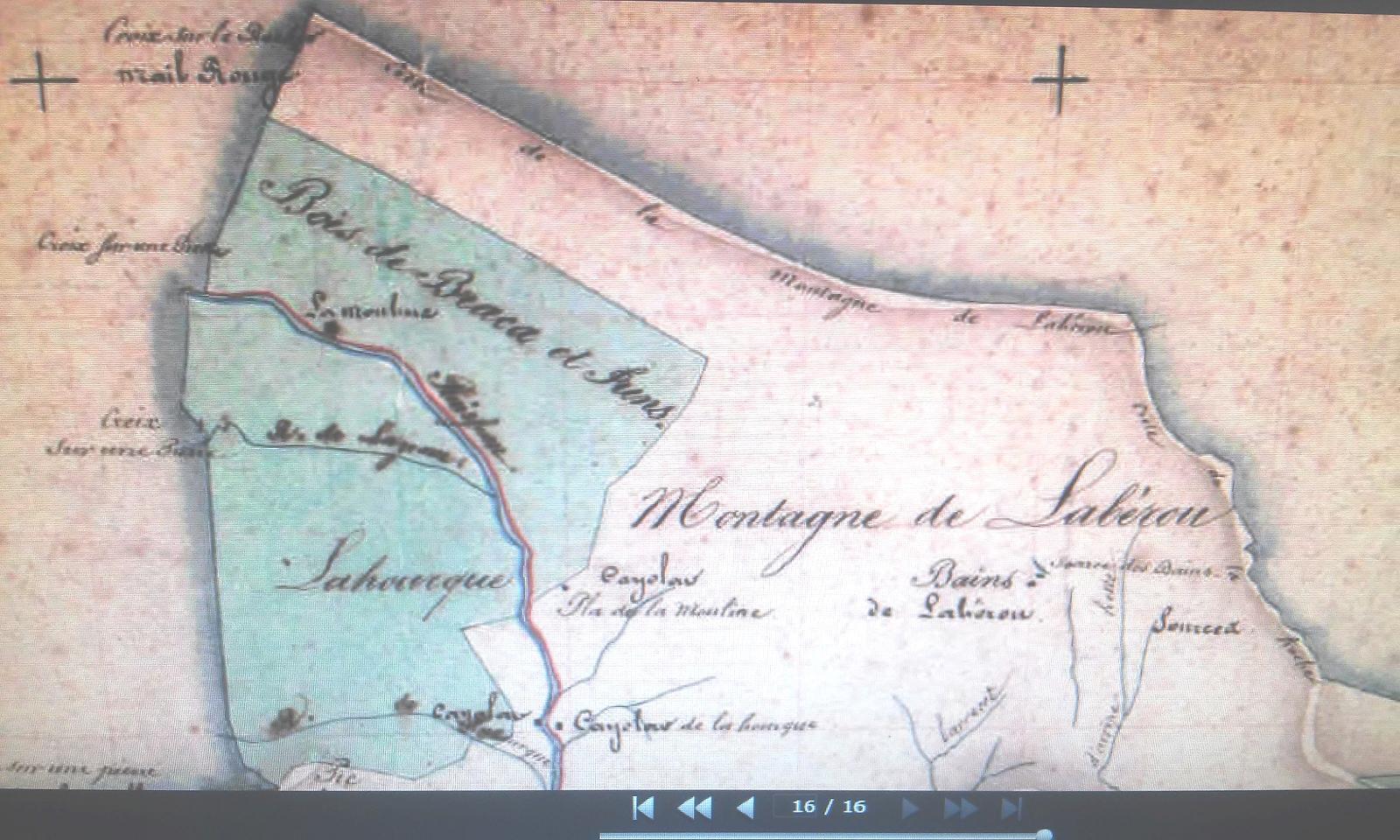 Lescun cadastre napol?onien 1837 Montagne et Bains de Lab?rou
