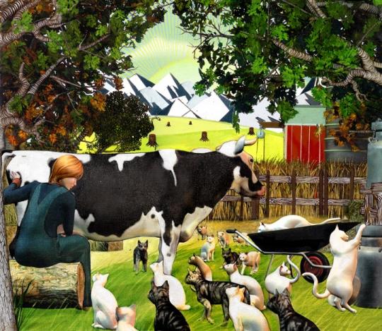 Steven-Tabbutt-Milking-Cow