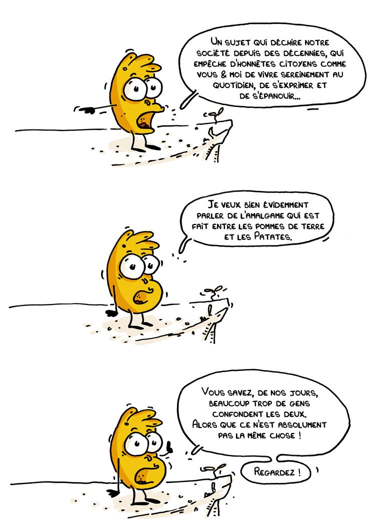 Les Kartofs, Blog BD, Note, Amalgame