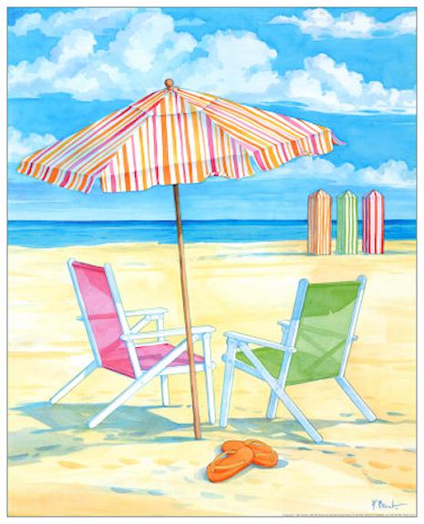 """Illustrations ... pour l'été ... Plage et """"farniente"""" ... 180628043034180587"""
