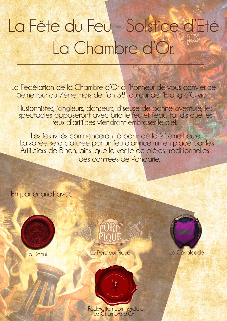 Affiches : soirée La fête du feu - Solstice d'Été - La Chambre d'Or 180630082750241173