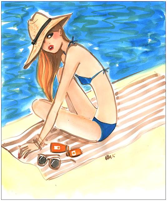 """Illustrations ... pour l'été ... Plage et """"farniente"""" ... 180713122646200754"""
