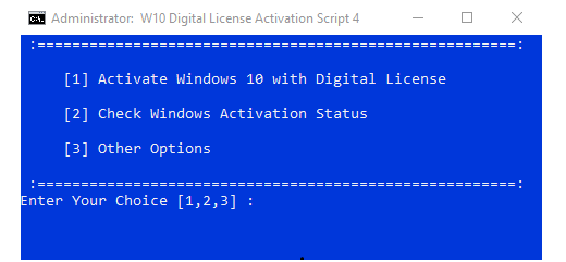 Windows 10 digital license activation script v40 board4all ccuart Choice Image