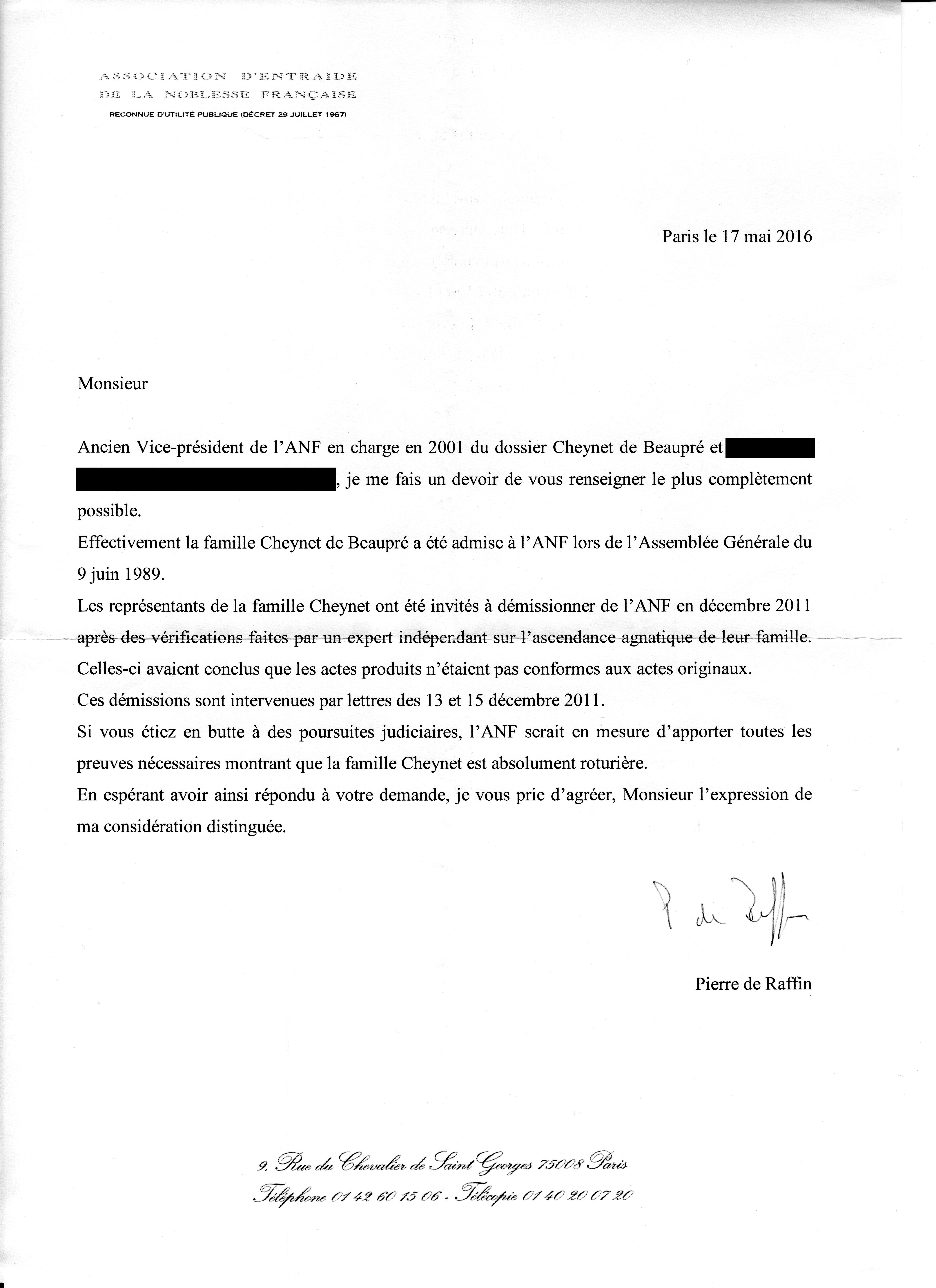 Lettre ANF
