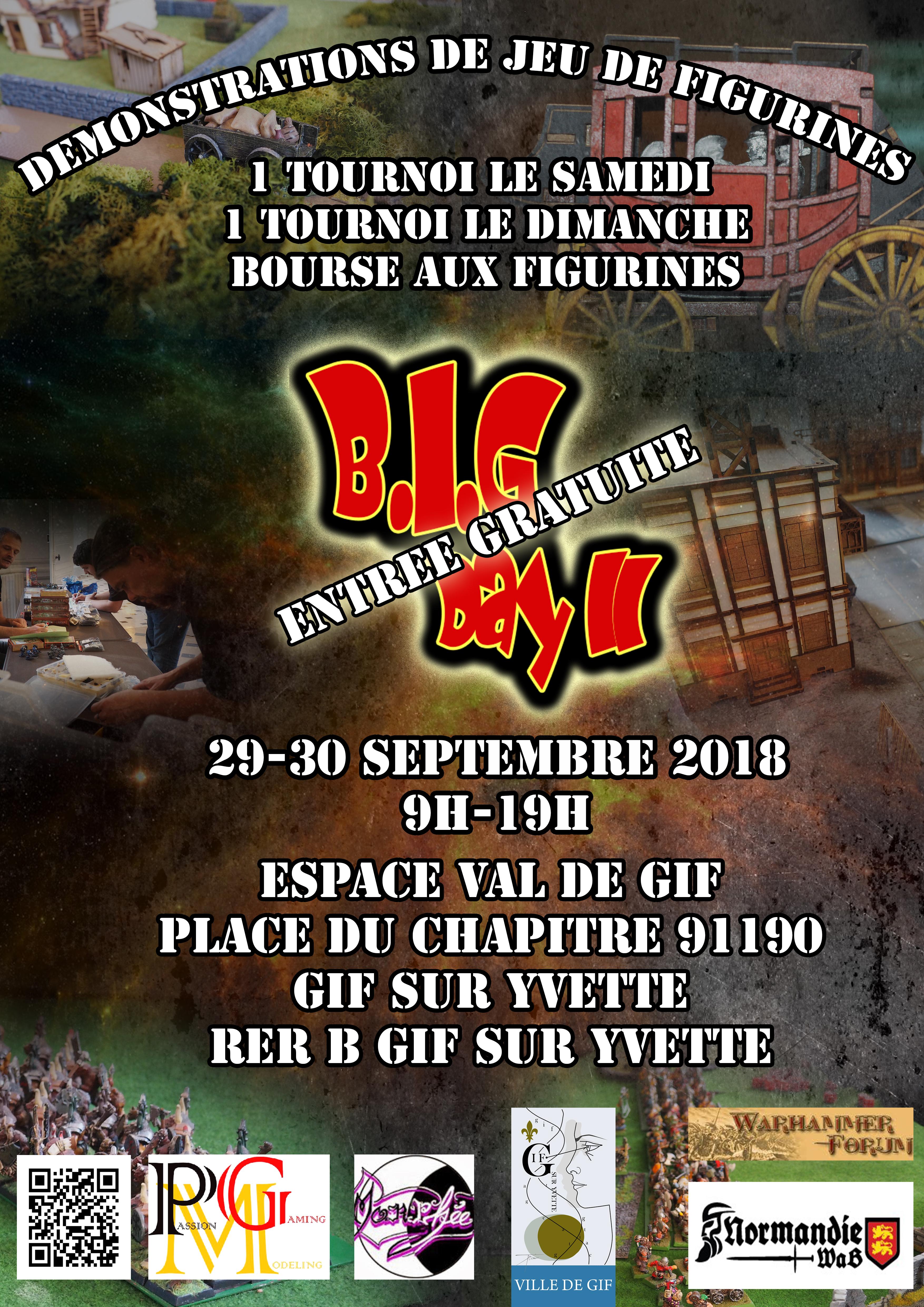 Annonce Big Day II : le 29-30 Septembre 2018  à Gif sur Yvette 180717082926316221