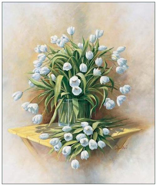 Bouquet dans un vase, une corbeille, une coupe, une poterie  18072411003849141
