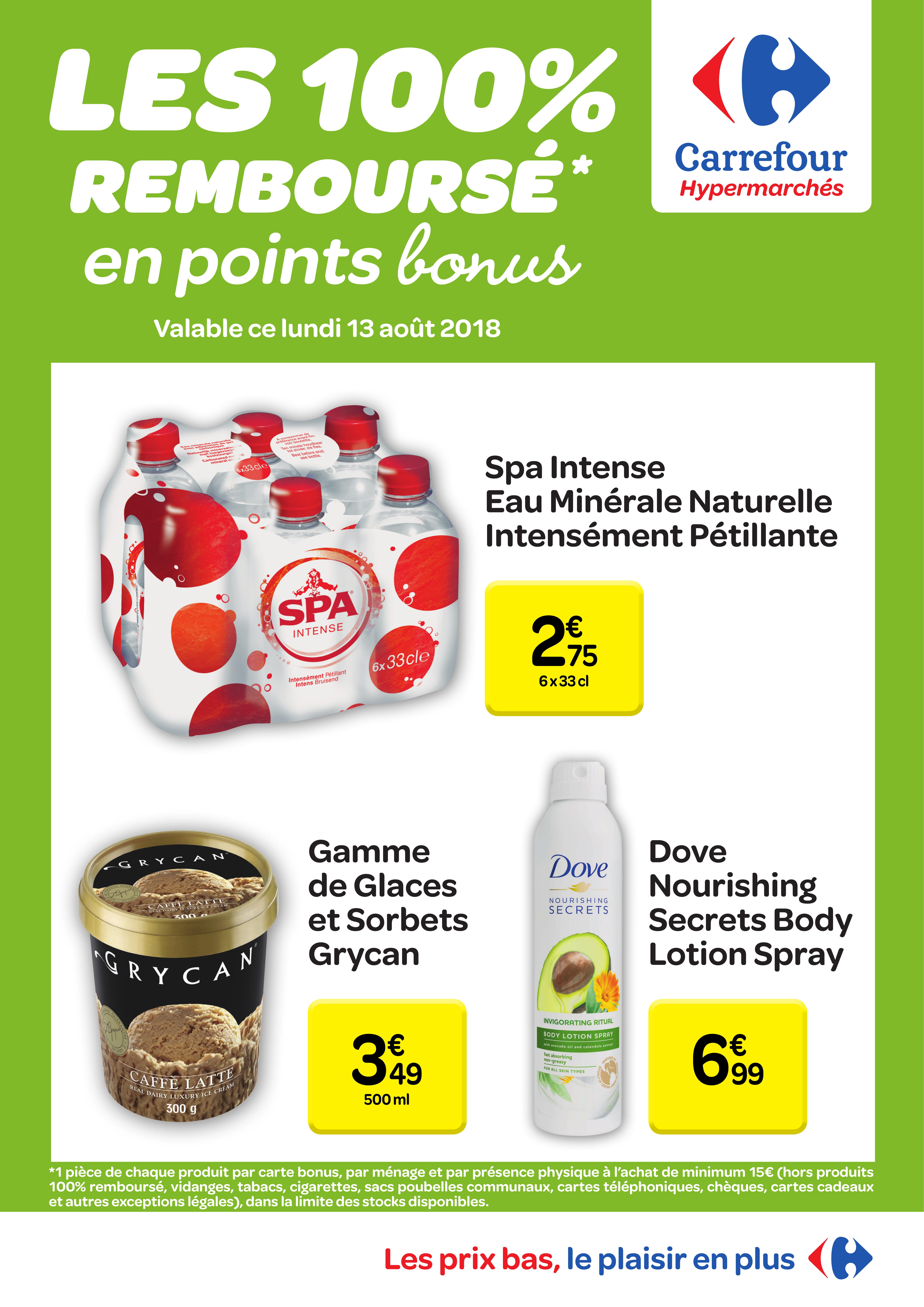 Carte Carrefour Hyper.Carrefour Hyper 100 Rembourses En Points Bonus Lundi 13 08