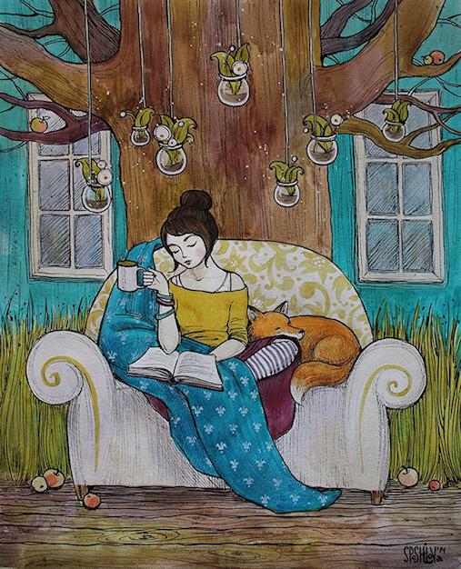 La lecture, une porte ouverte sur un monde enchanté (F.Mauriac) - Page 2 18080712430647644