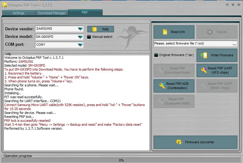 تجارب الأعضاء الناجحة على واجهة Octoplus FRP Tool