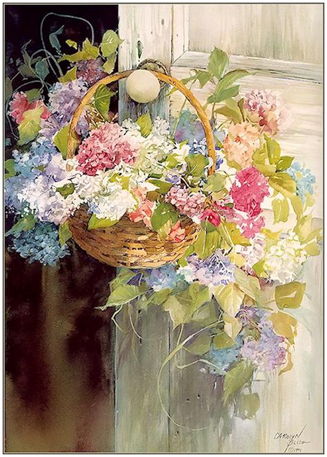Bouquet dans un vase, une corbeille, une coupe, une poterie  180814100440170210