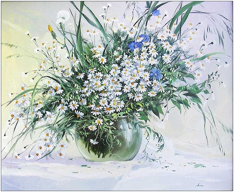 Bouquet dans un vase, une corbeille, une coupe, une poterie  180814100702921008