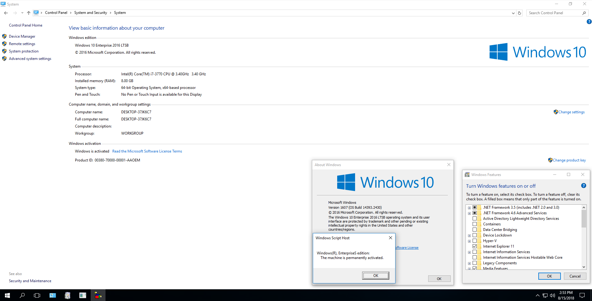 Windows 10 Enterprise LTSB v1607 (Build 14393 2430) 2in1 English