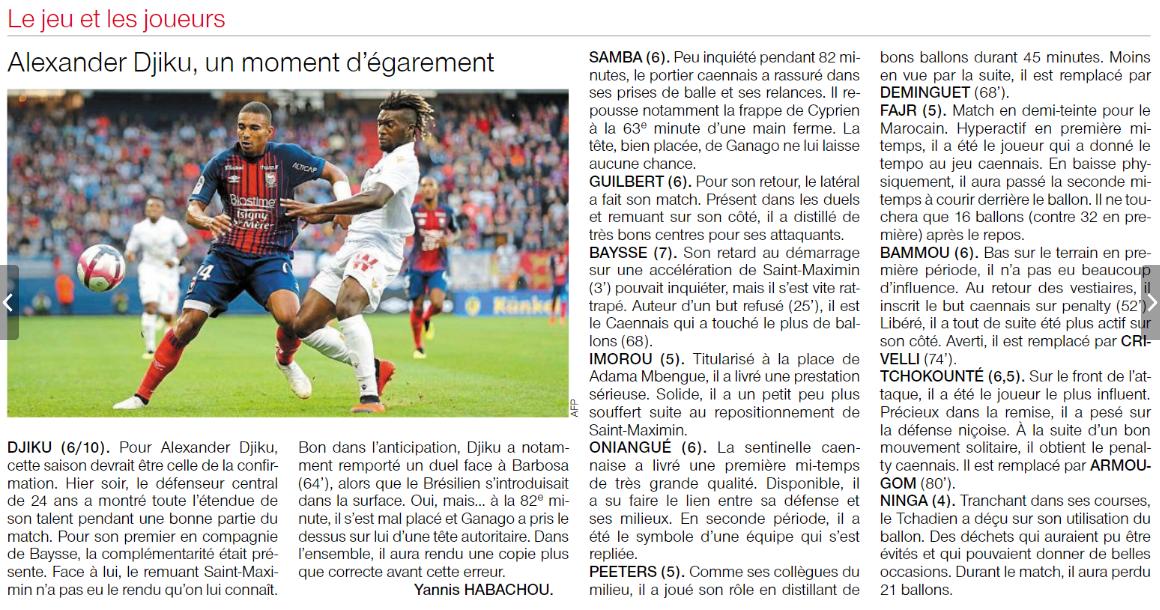 [2e journée de L1] SM Caen 1-1 OGC Nice 180819102002261520