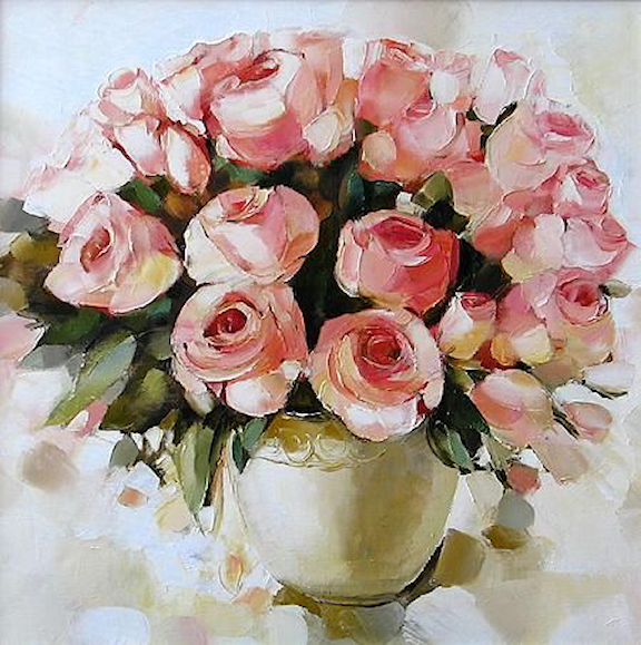Bouquet dans un vase, une corbeille, une coupe, une poterie  180821020403875543