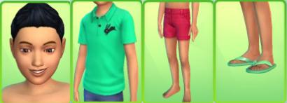 , Des tenues d'été pour les enfants Sims