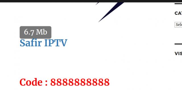 IPTV TÉLÉCHARGER SAFIR