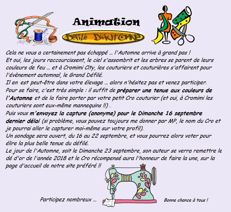 """Animation """"Grand Défilé de l'Automne"""" 180907090715608328"""