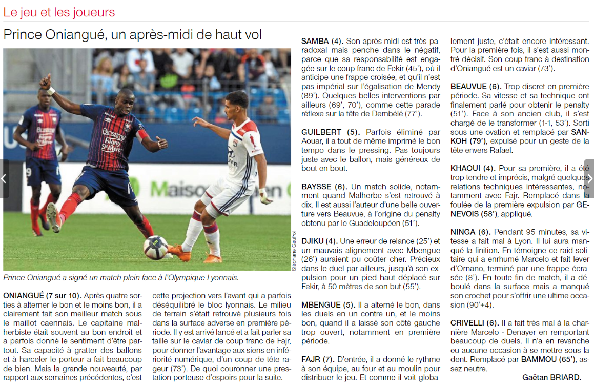 [5e journée de L1] SM Caen 2-2 O Lyon - Page 2 180916091204836518
