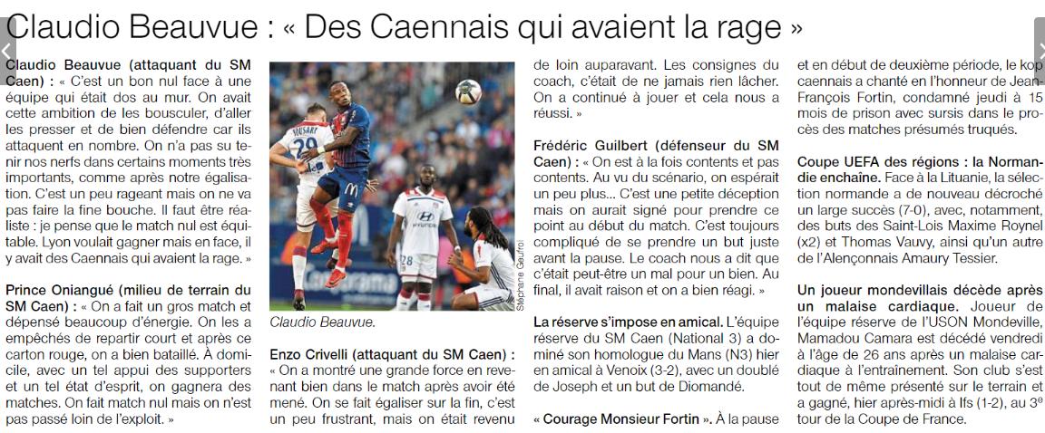 [5e journée de L1] SM Caen 2-2 O Lyon - Page 2 18091609121330013