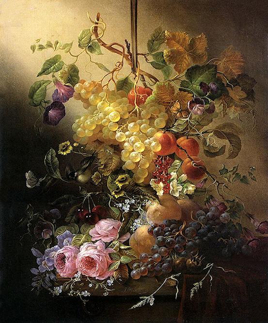Bouquet dans un vase, une corbeille, une coupe, une poterie  180917121948825858
