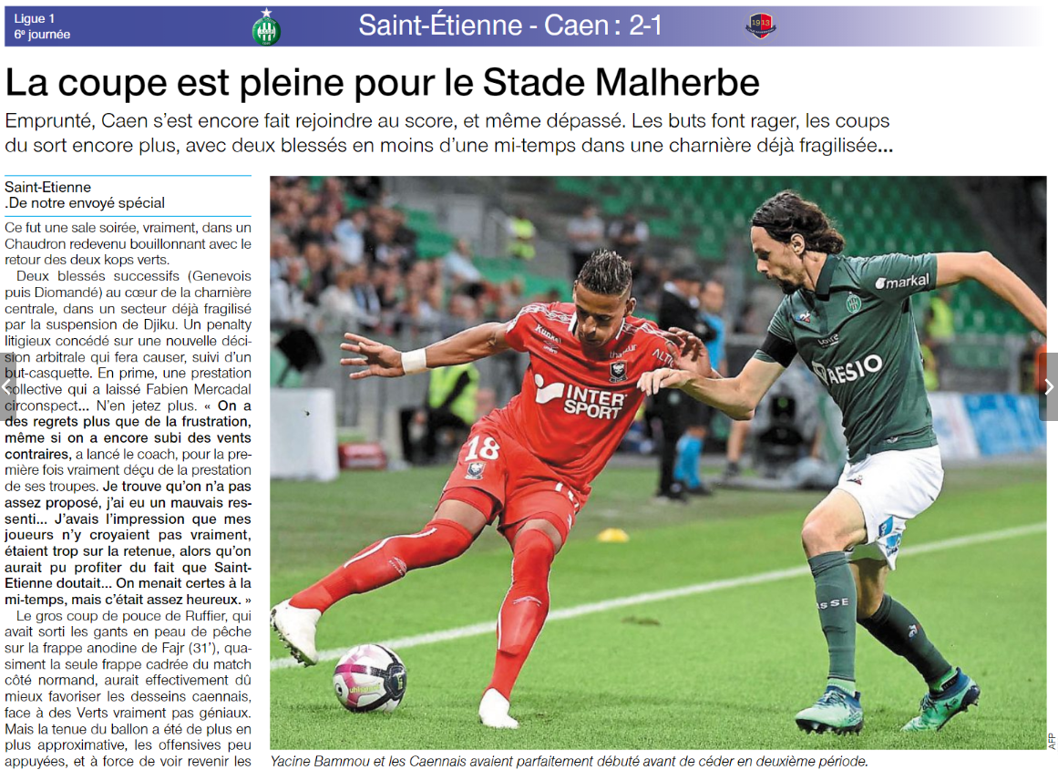 [6e journée de L1] AS Saint Etienne 2-1 SM Caen  - Page 2 180923102733527896