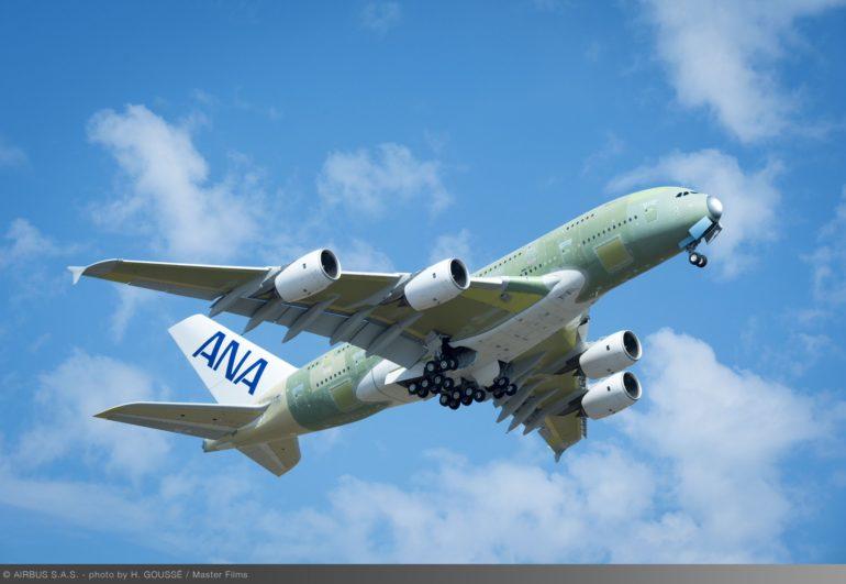 380 ana flight