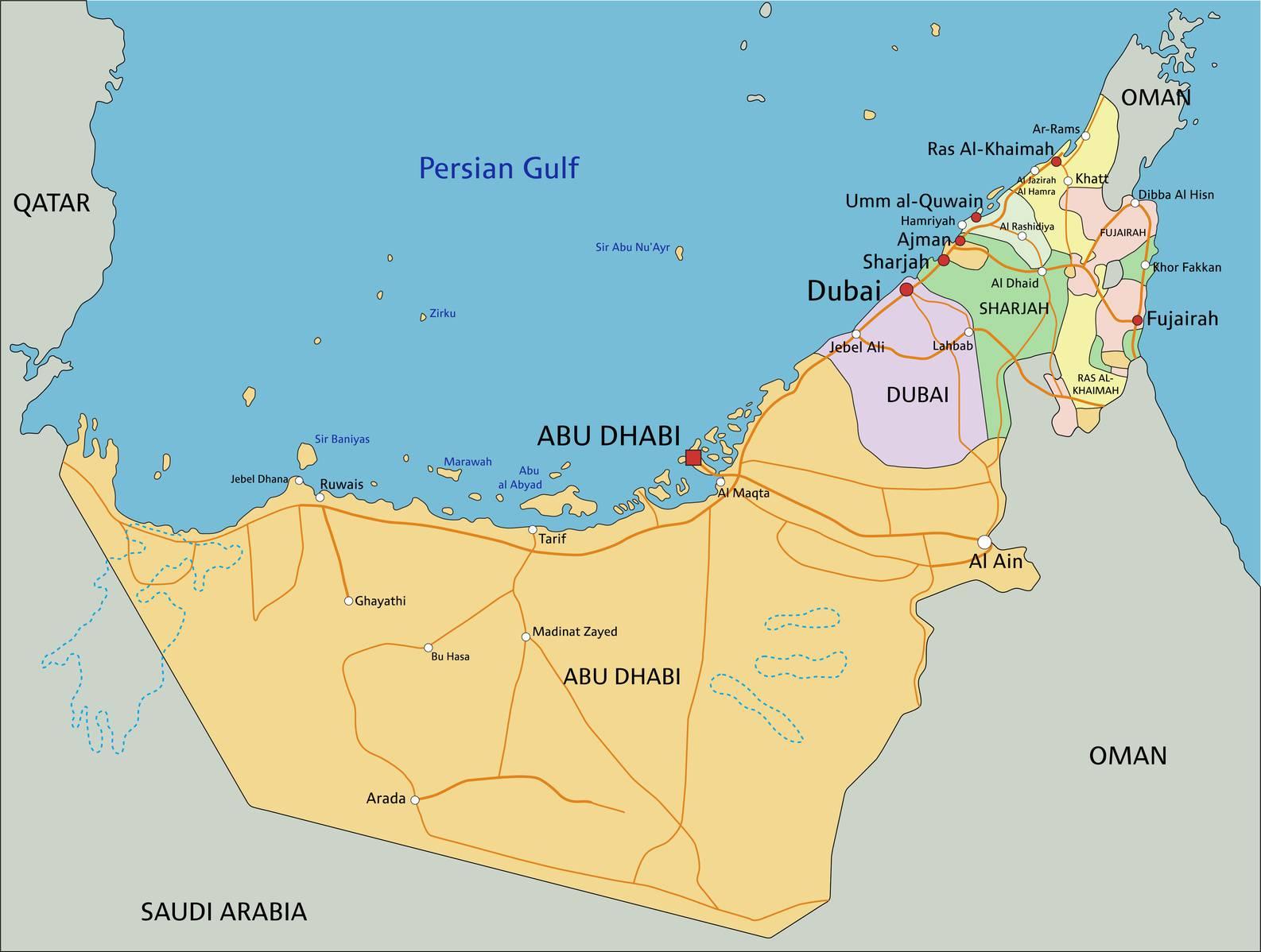 carte-emirats-arabes-unis