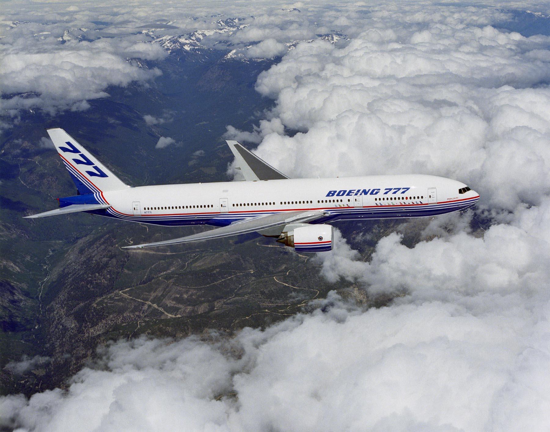 777 first flight