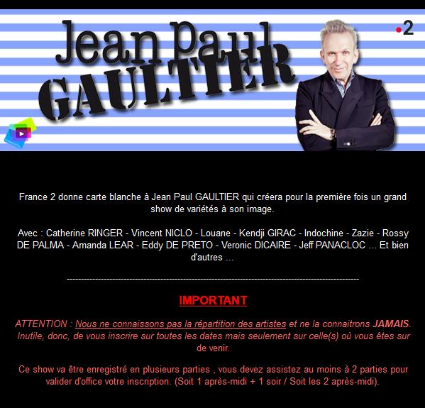 [TV] Jean-Paul Gaultier fait son show 181003034928451713