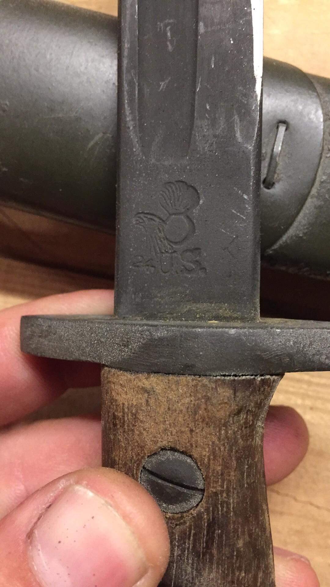 Baïonnette US 1917 modifié en poignard 181009040452684533