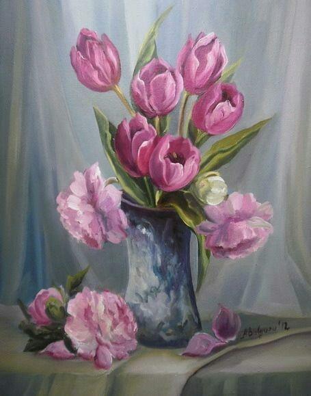 Bouquet dans un vase, une corbeille, une coupe, une poterie  - Page 2 181015120108375796
