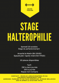 Affiche stage Octobre