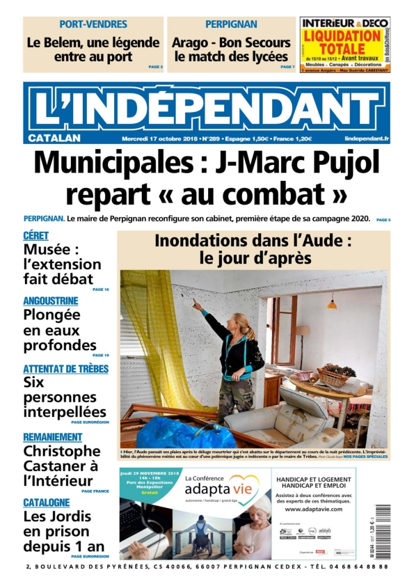 l'indépendant catalan du mercredi 17 octobre 2018