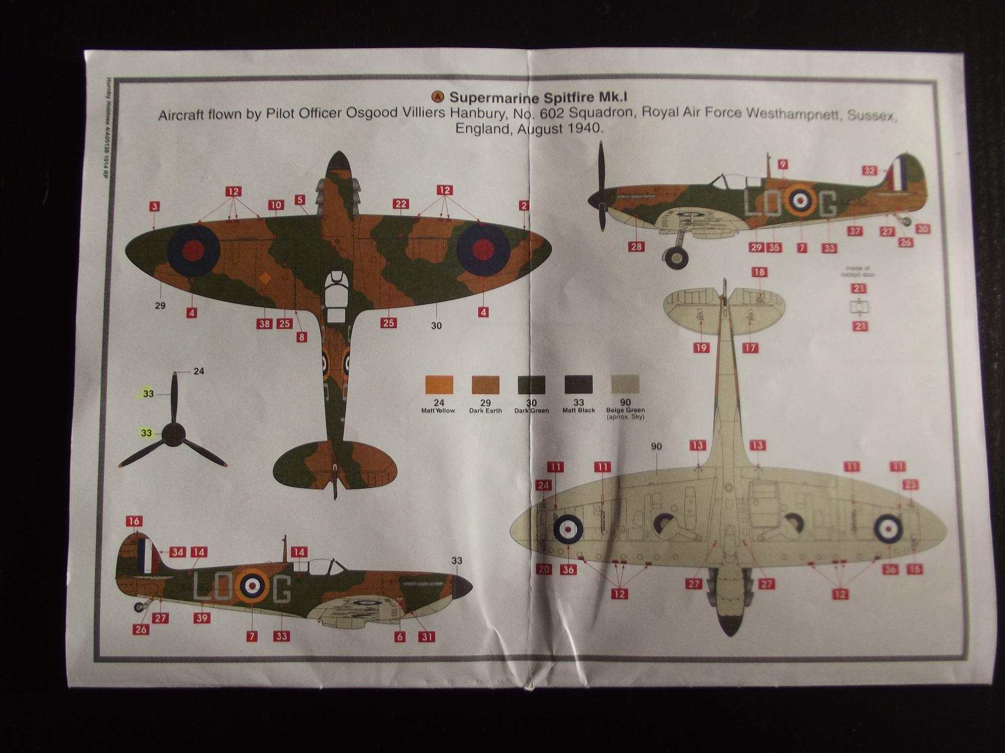 Supermarine Spitfire MK.I/ 1:48/airfix par benco56 181020110926528904