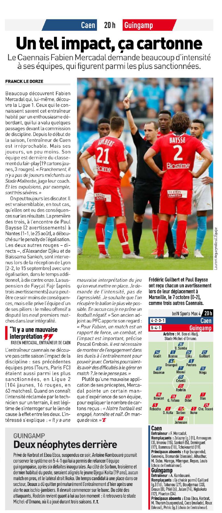 [10e journée de L1] SM Caen 0-0 EA Guingamp 181020112750666483