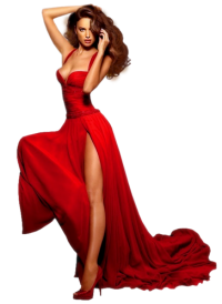 Femme en rouge Mini_18102107451134663